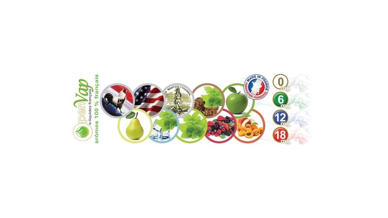 Recharges e-liquides 100% français