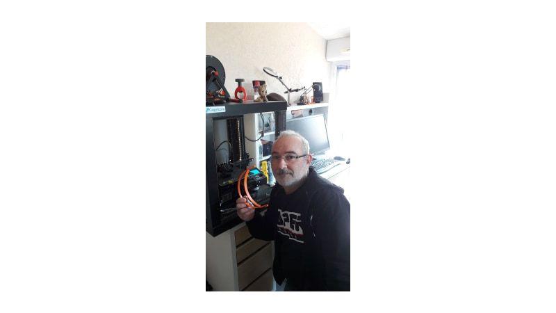 Merci à Laurent Abry pour son aide avec son imprimante 3D